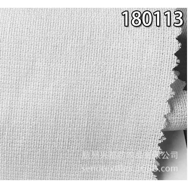 180113天丝麻混纺小提花面料
