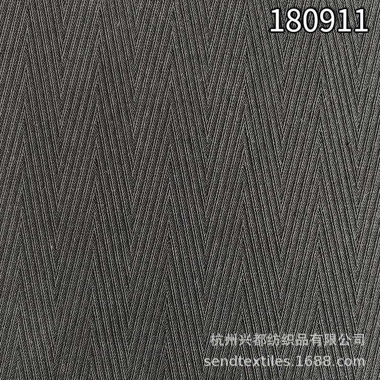 180911天丝T400提花人字斜面料 天丝弹力人字斜裤装面料
