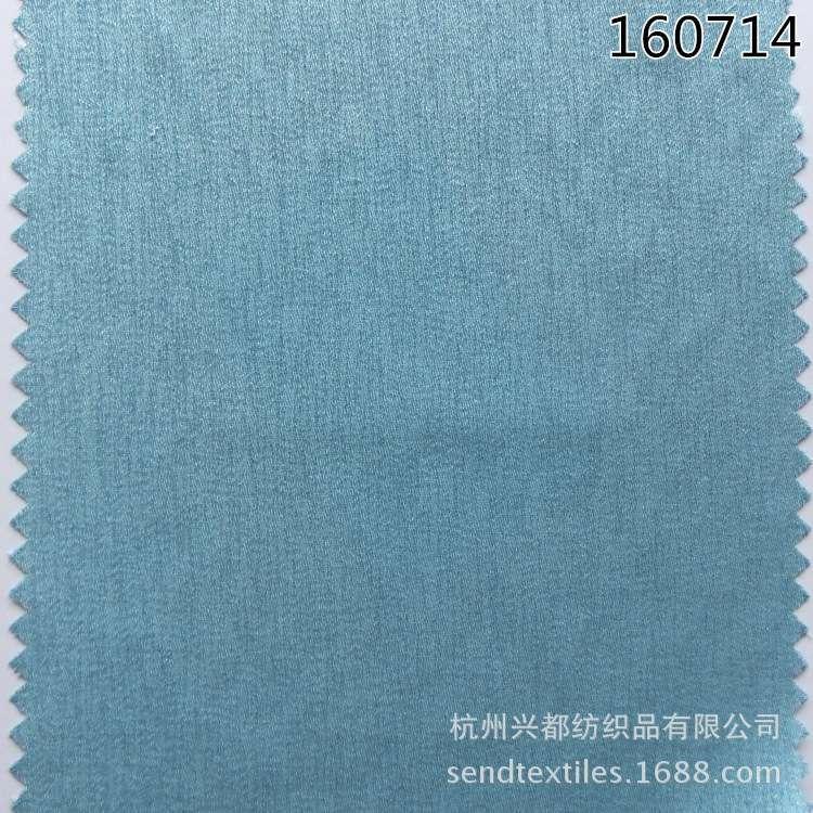 160714涤人棉树皮绉面料 粘胶春夏连衣裙面料