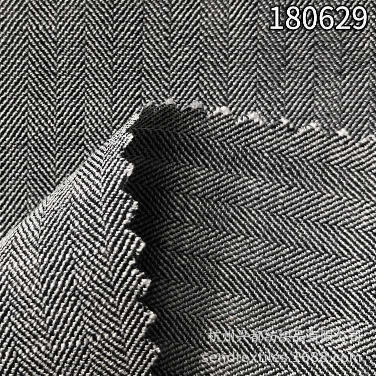 180629天丝涤纶纬弹色织人字斜面料 天丝涤弹力色织面料