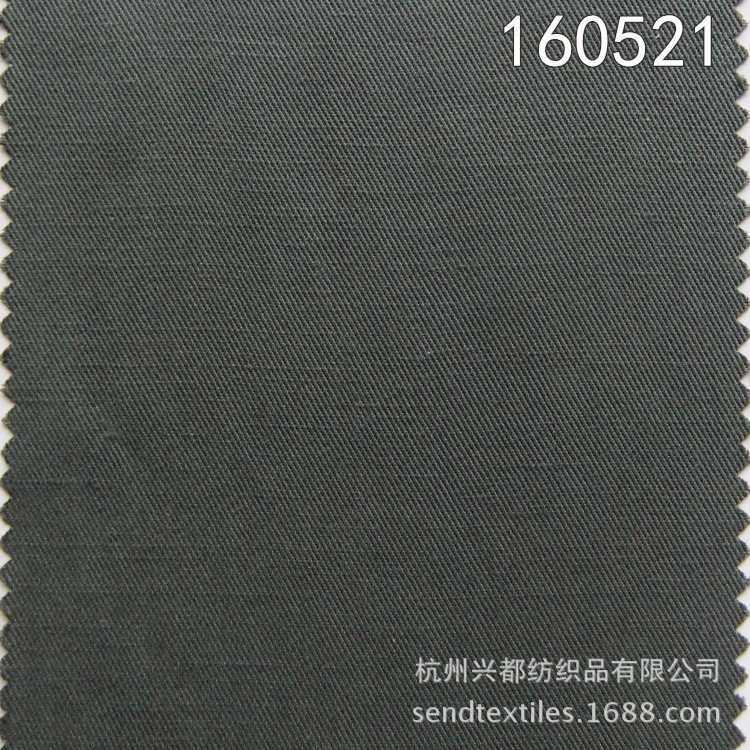 160521莫代尔麻斜纹面料
