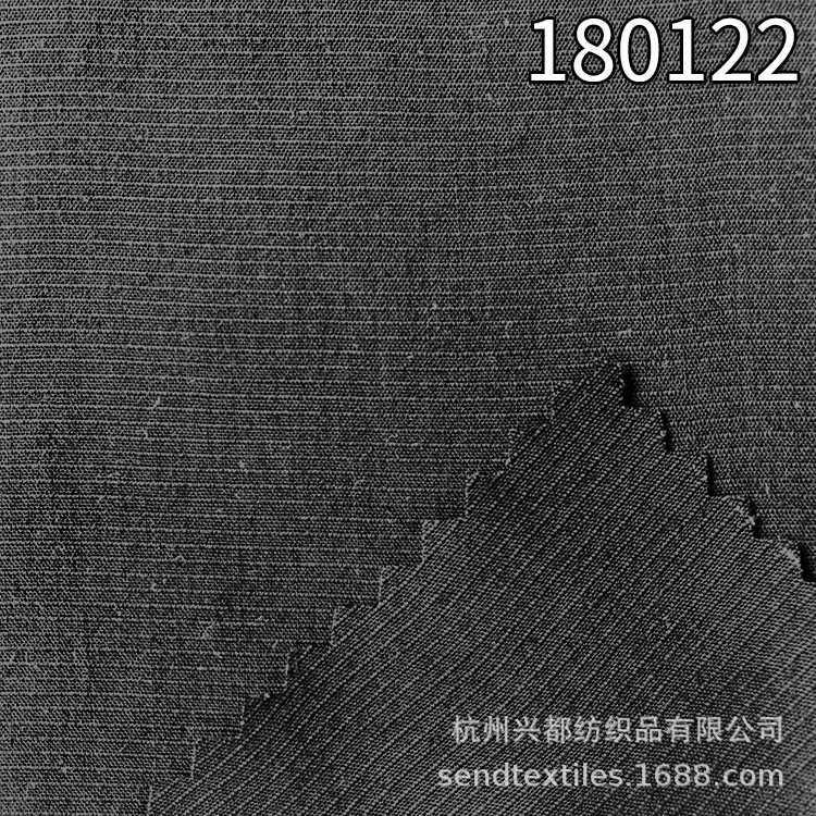 180122A100天丝横条面料 平纹天丝服装面料
