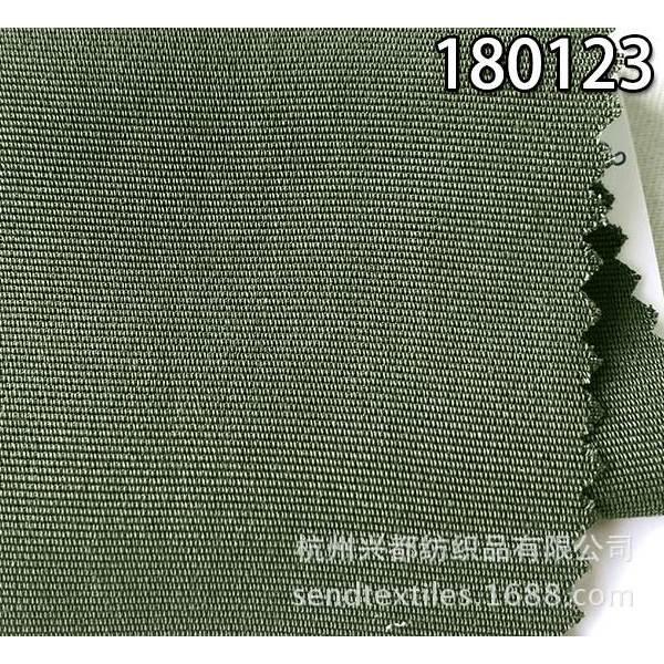 180123天丝横条单经双纬面料 全天丝服装面料
