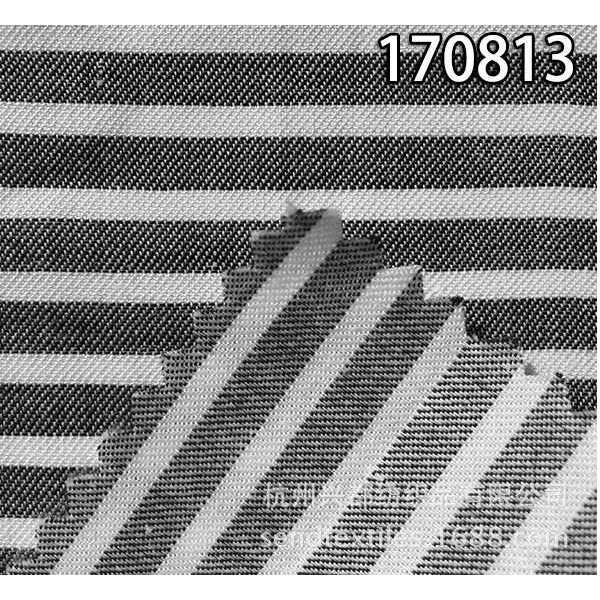 170813天丝交织斜纹面料 横条衬衫、外套面料