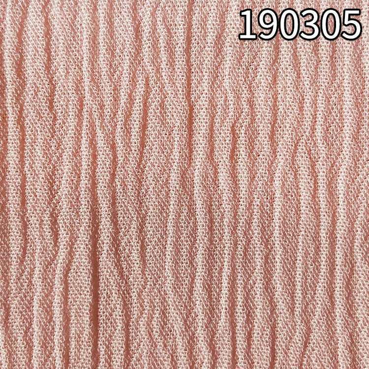 190305粘胶顺纡绉布 平纹兰精环保粘胶面料