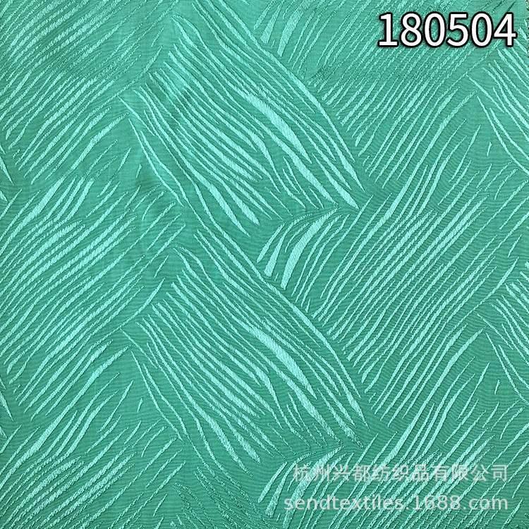 180504人丝人棉条子提花面料 大块条子提花布