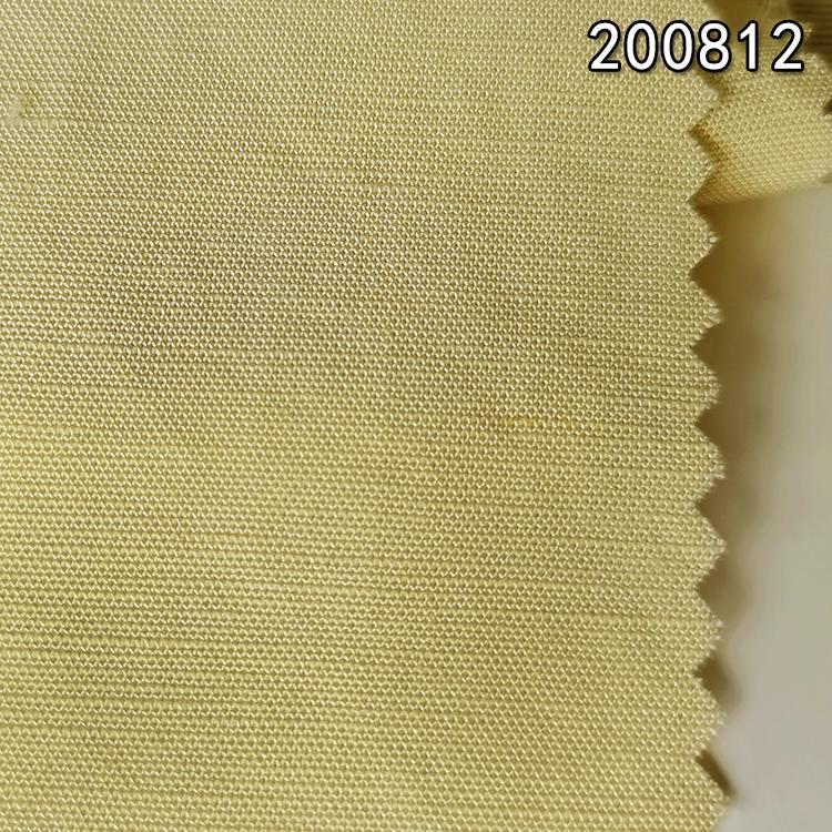 200812春秋新款天丝麻平纹交织面料