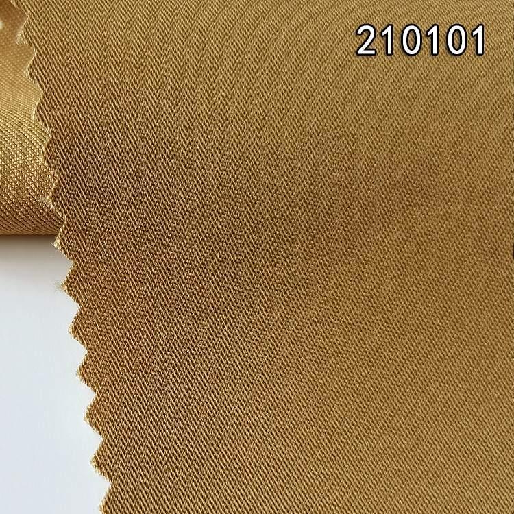 210101天丝涤纶纬弹贡缎长车服装面料