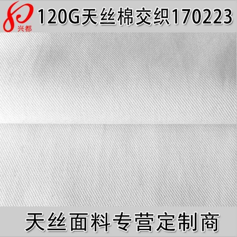 170223天丝棉交织斜纹面料 衬衫面料