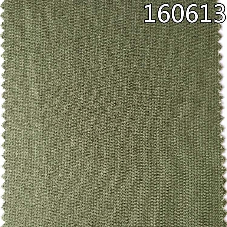 160613人棉天丝提花灯芯条布 衬衫面料