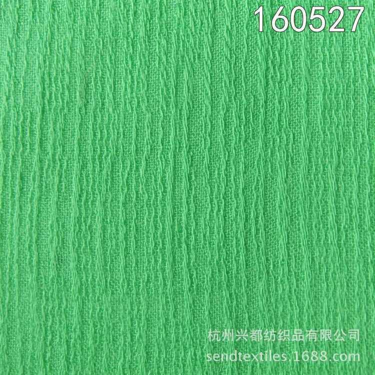 160527全人棉树皮皱连衣裙面料