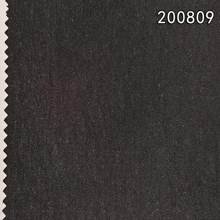 200809斜纹天丝棉弹力面料秋冬外套服装面料