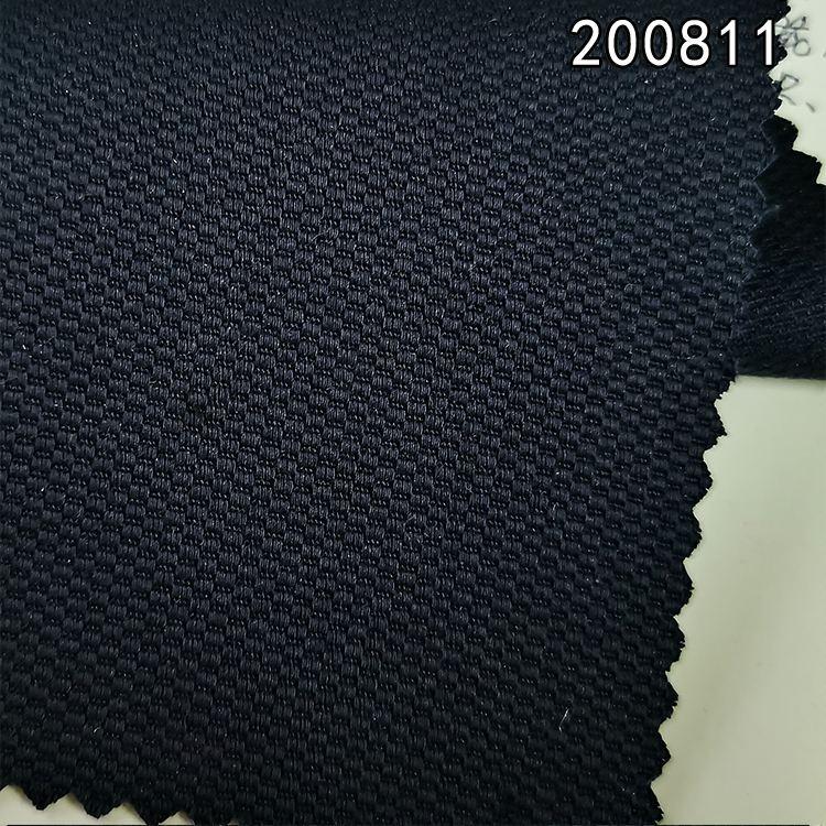 200811棉粘弹力面料 棉粘纬弹蜂巢提花梭织布