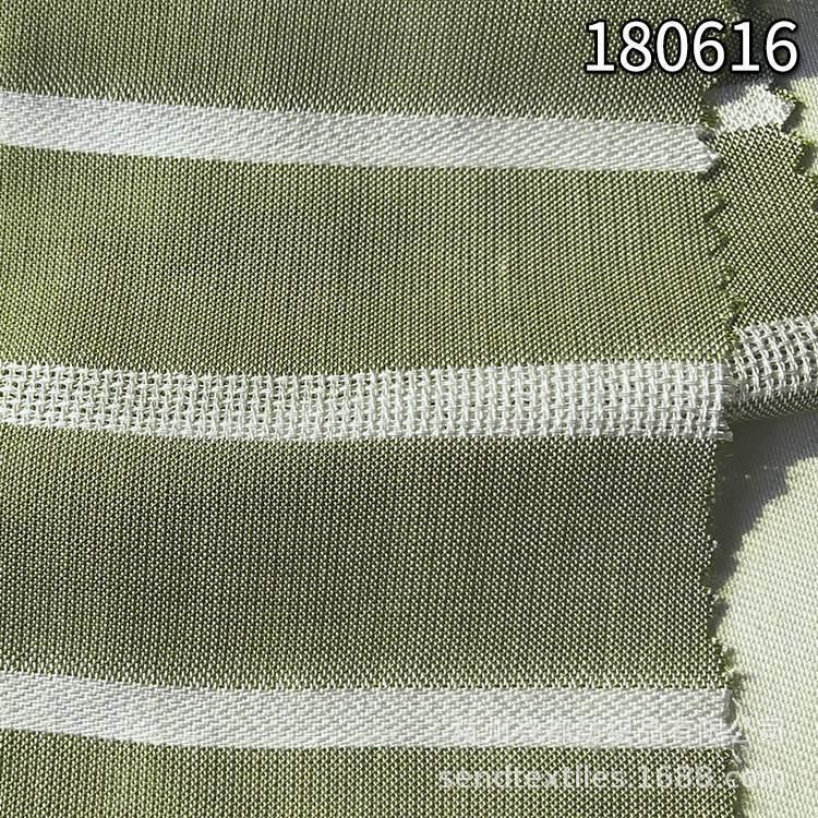 180616天丝人棉色织横条布 天丝粘胶色织平纹布