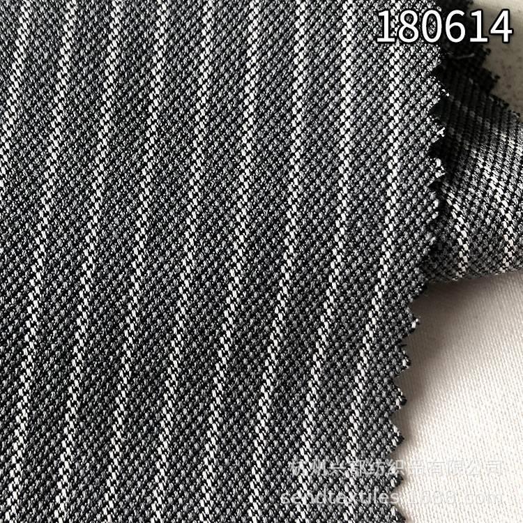 180614天丝棉色织条子面料  多臂组织服装面料