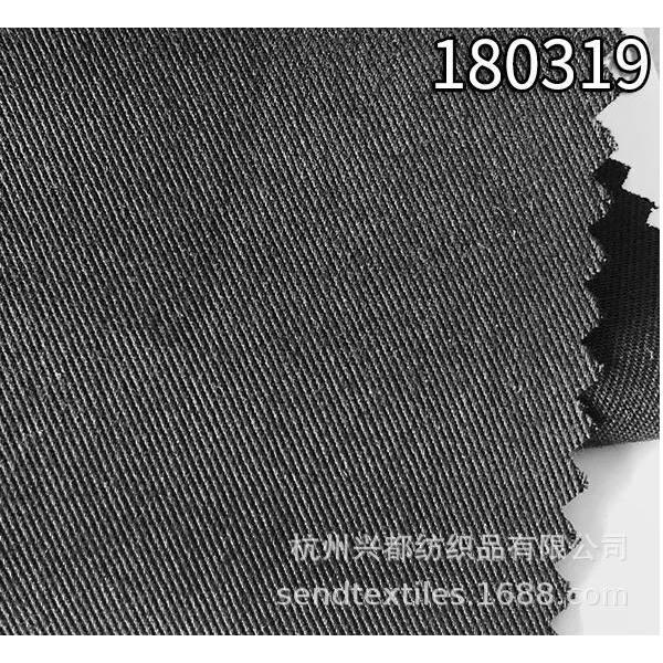 180319天丝涤纶混纺斜纹面料 中高端面料定制