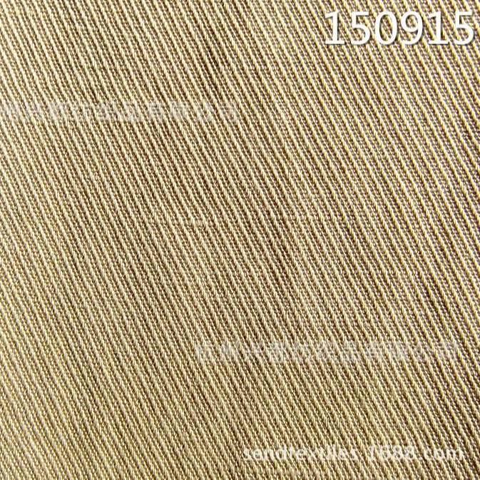 150915骑兵斜天丝亚麻交织面料