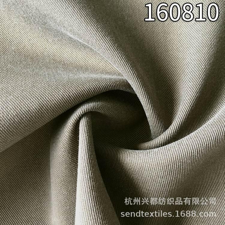 160810天丝涤弹力斜纹面料  女装外套