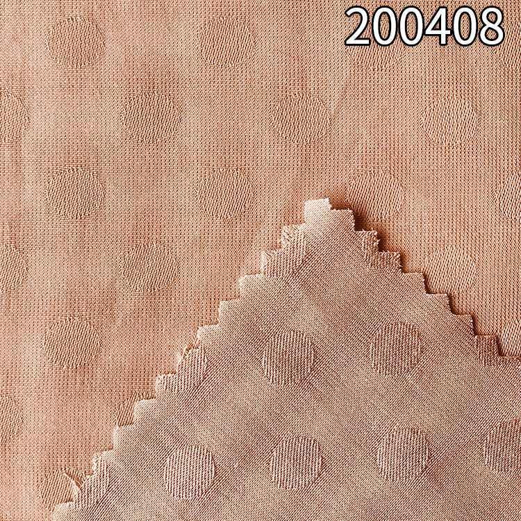 200408超薄涤天丝小圆点提花连衣裙面料