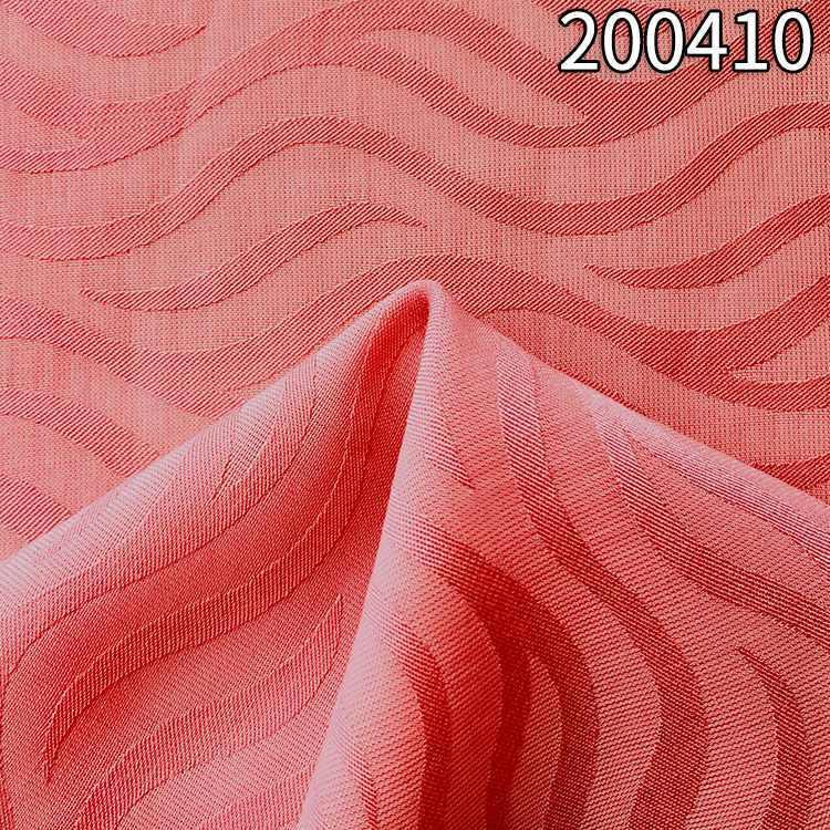 200410涤天丝波浪提花夏季女装面料