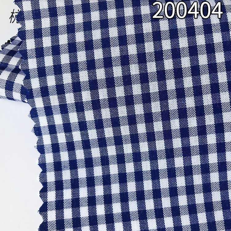 200404人造棉粘胶混纺格子色织衬衫女装面料