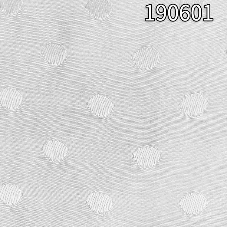 190601人丝人棉提圆点平纹面料 人丝人棉大提花面料