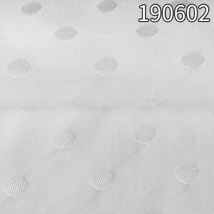 190602人丝人棉提圆点提花面料