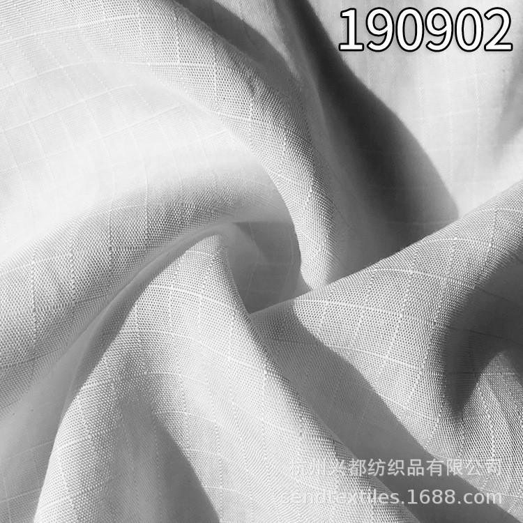 190902天丝格子面料 轻薄全天丝格子服装面料