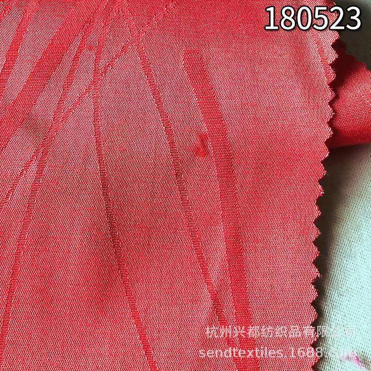 180523线条提花人丝人棉弹力布 女装服装面料