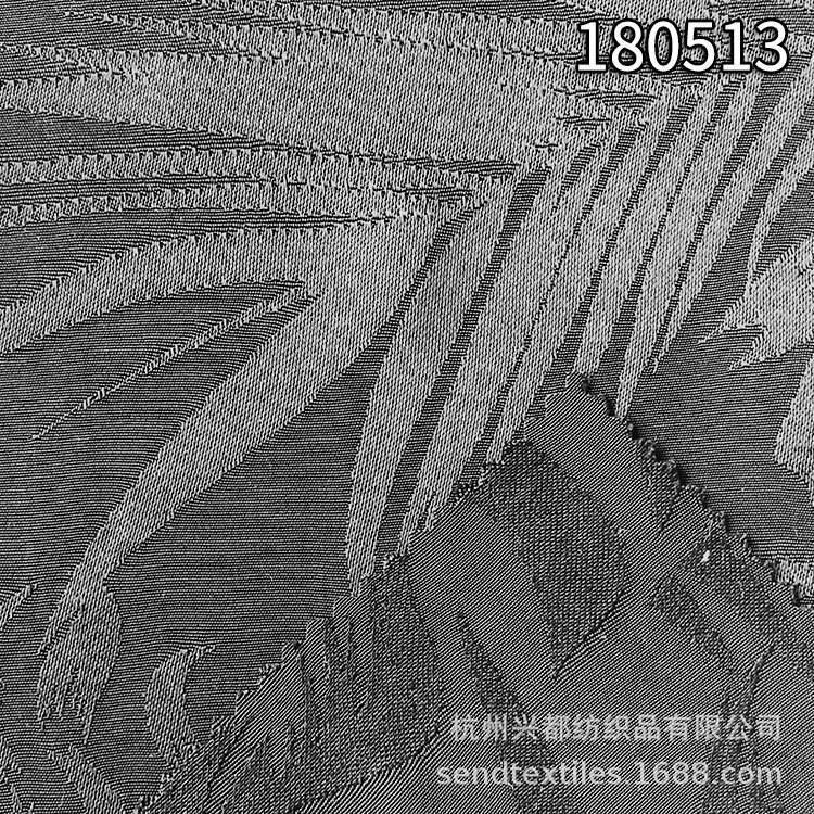 180513人丝人棉花鸟提花面料