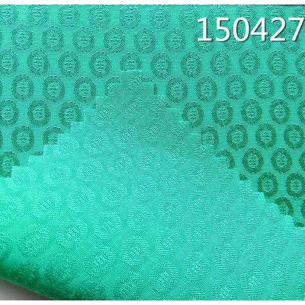 150427女装人丝人棉铜钱提花连衣裙面料