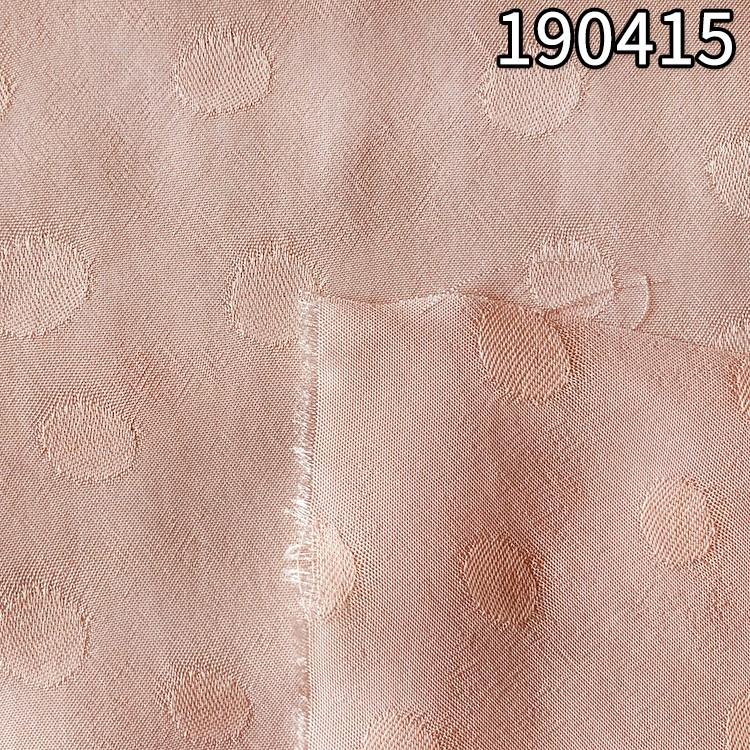 190415全人丝提圆点面料春夏连衣裙面料