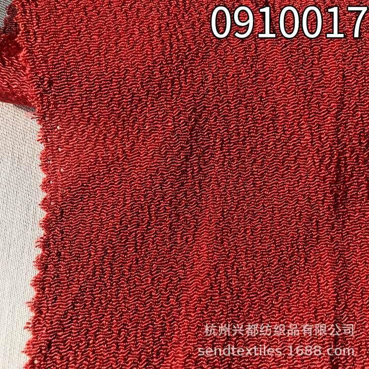 0910017人丝人棉绉布女装连衣裙面料