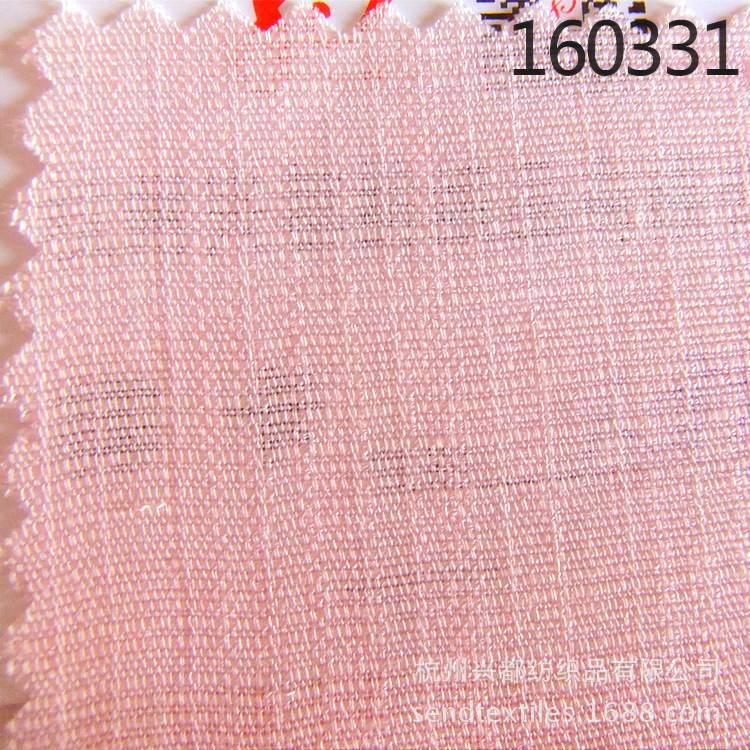 160331轻薄透气全人棉粘胶平纹面料