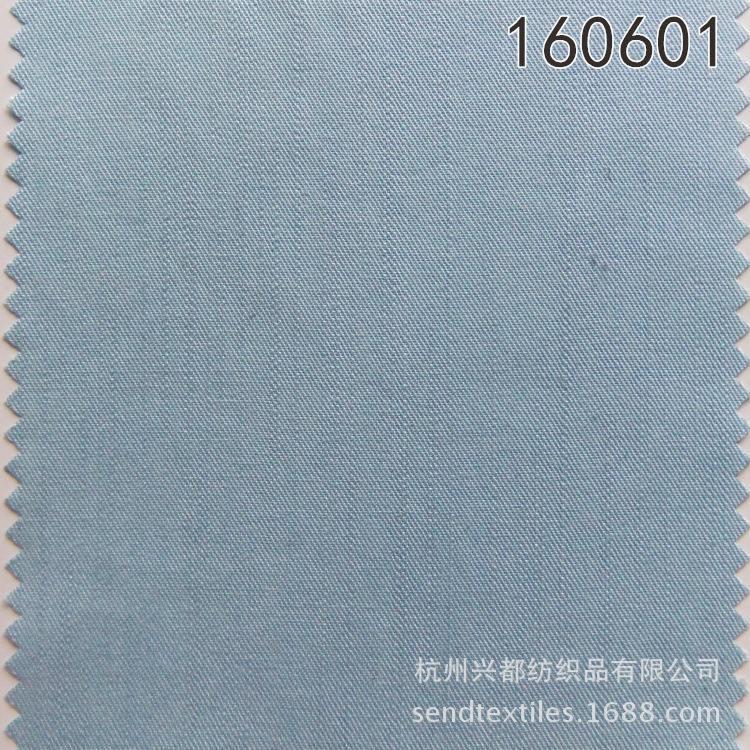 160601天丝棉斜纹经向竹节服装面料