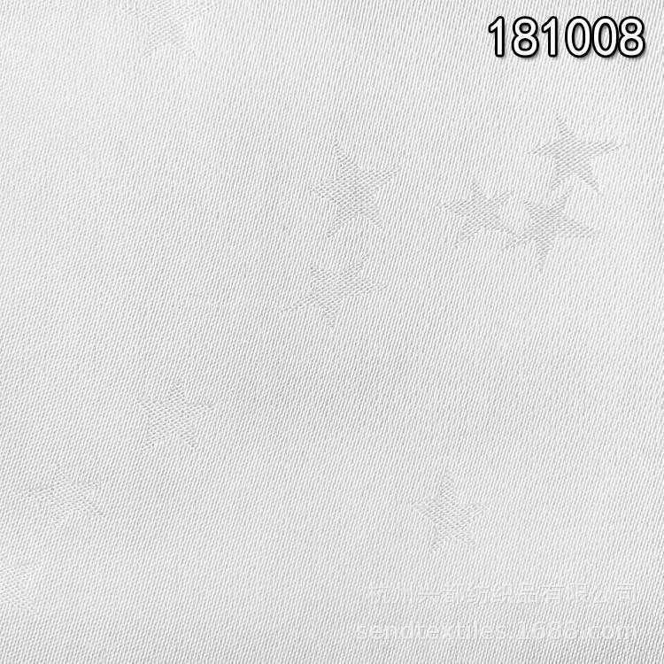 181008加捻人丝人棉五角星提花布