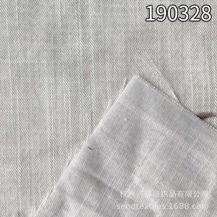 190328天丝棉麻竹节斜纹印花家纺面料