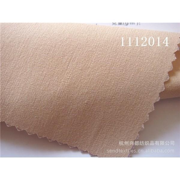 1112014人棉涤纶弹力斜纹面料