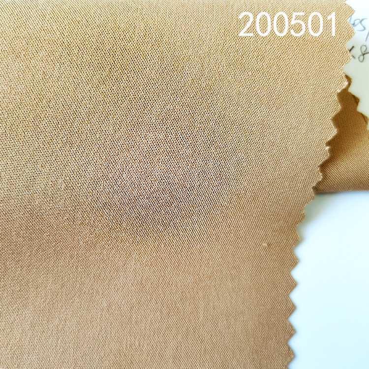 200501平纹人棉抗皱包芯布春夏女装衬衫连衣裙面料