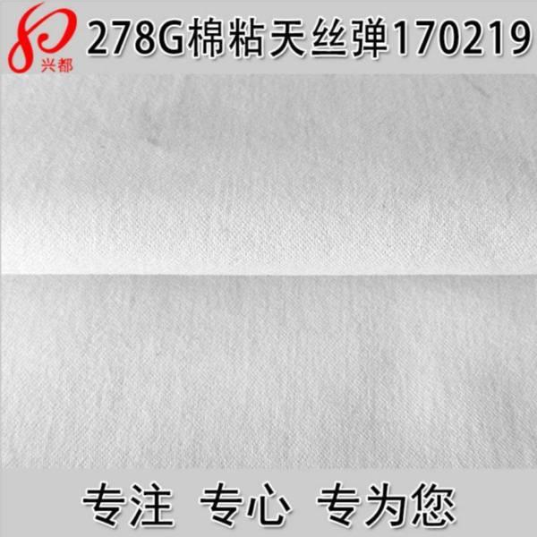 170219棉人棉天丝弹力缎纹面料 裤装面料