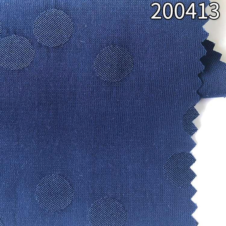 200413圆点提花涤纶天丝衬衫连衣裙面料