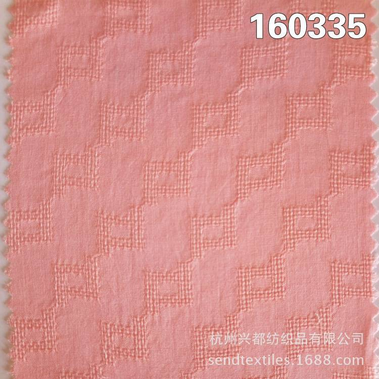 160335粘胶人棉提花透气时装面料