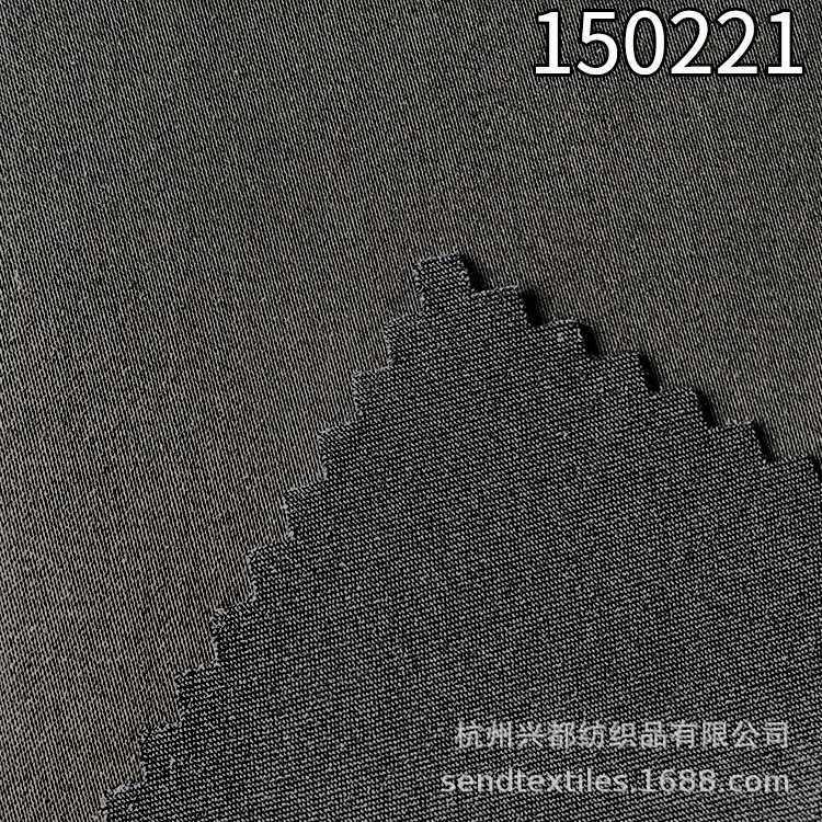 150221春夏缎纹弹力天丝涤裤子面料